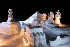 雪の芸術展 新潟県知事賞「王家 二千年の夢~風の谷の物語~」アウトドア・ファミリー4クラブ