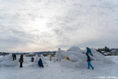 市民がつくる雪の芸術作品 制作の様子
